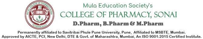 script | M.E.S's College of Pharmacy, Sonai
